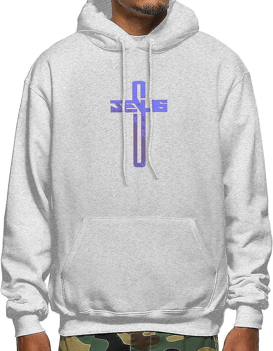 Purple Jesu-s CROS-s Bless Faith Fashion Swaeatershirt Mens Hoodie Sweater XL