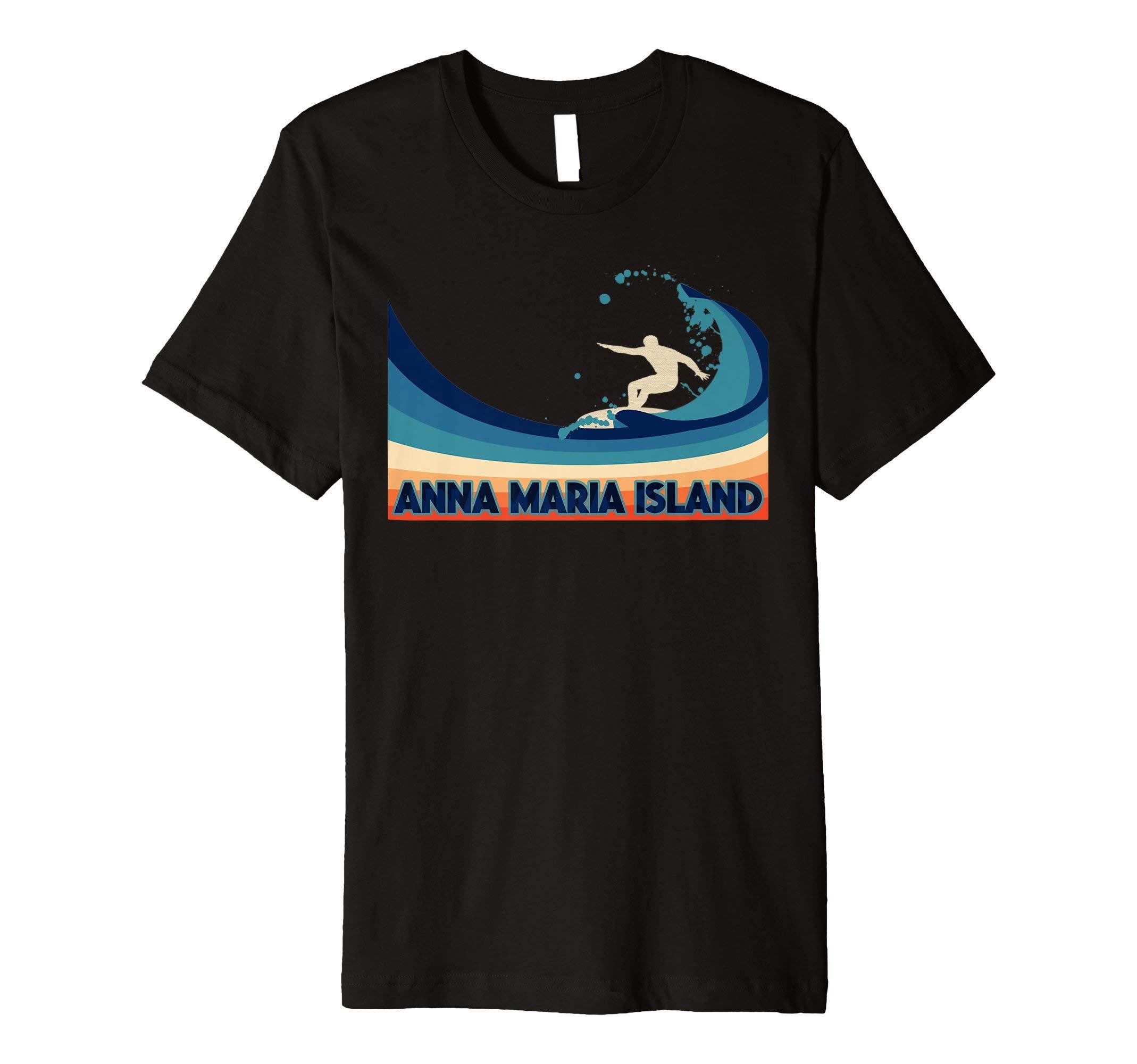 Anna Maria Island Retro 80s Style Tee Shirt Travel Souvenir