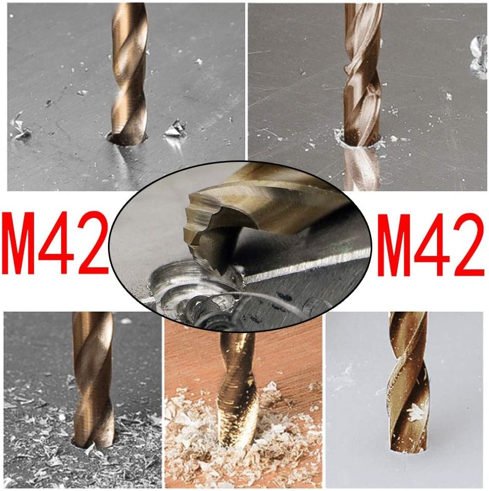 1PC HSS M42 Cobalt twist Drill Bit 1mm Cast Iron Stainless Steel professional 13mm used for Drilling on Hardened Steel Color : Cobalt, Size : 7mm