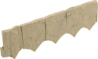 product image for Suncast Flagstone No Dig Border Edging - Natural Flagstone Appearance for Garden, Lawn, and Landscape Edging - Water Resistant Border for Containing Trees, Flower Beds and Walkways - Light Tan Marble