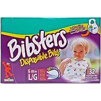 Bibsters Large Disposable Bibs - Multi - Unisex - 32 ct