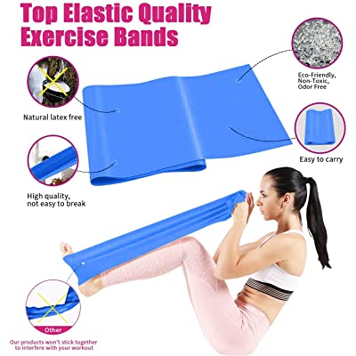 Resistance Stretch Gymnastic Bands Exercise Fitness Pilates Yoga Aerobic Therapy