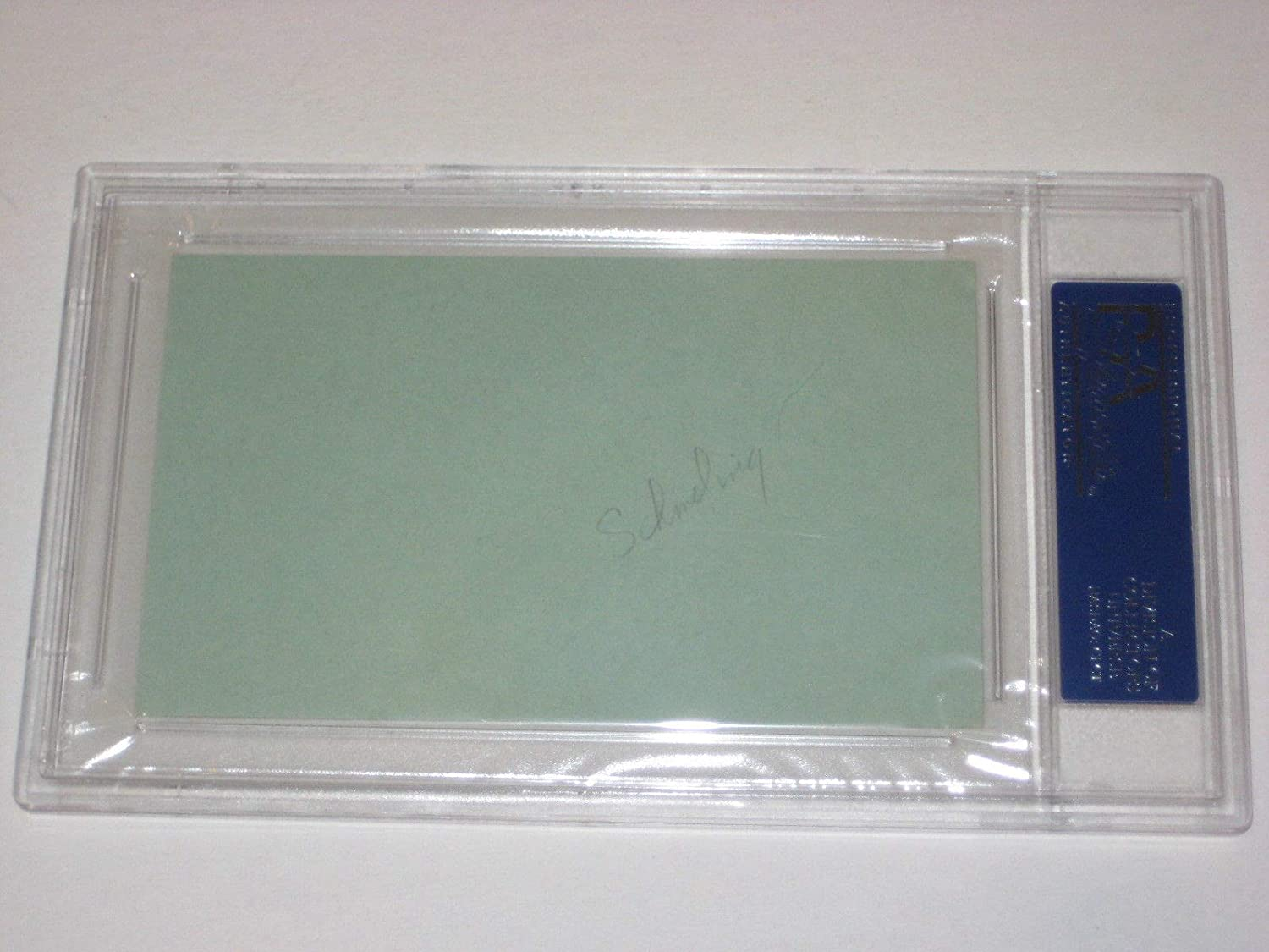 88fb178046f Max Schmeling Autographed Signed Index Card - PSA DNA Authentic at Amazon s  Sports Collectibles Store