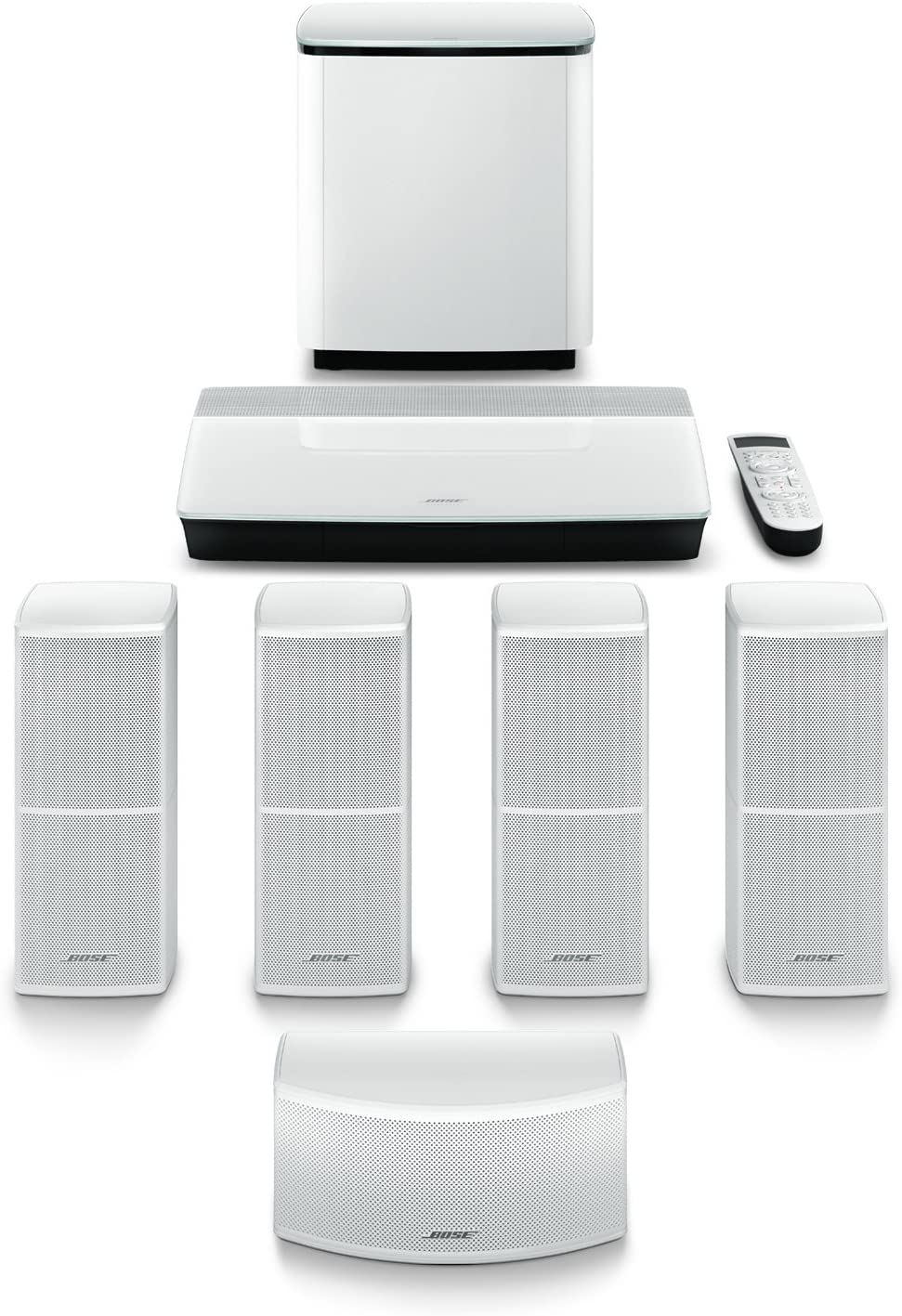 Bose Lifestyle 600 Home Entertainment System, works with Alexa - White