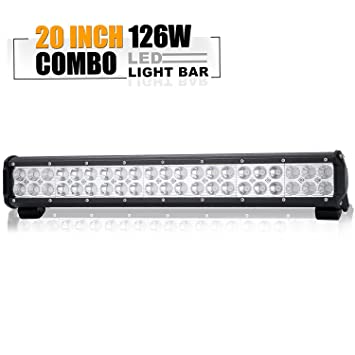 Amazon 20in led light bar on reverse front rear bumper brush 20in led light bar on reverse front rear bumper brush bull bar grille trails for truck mozeypictures Gallery