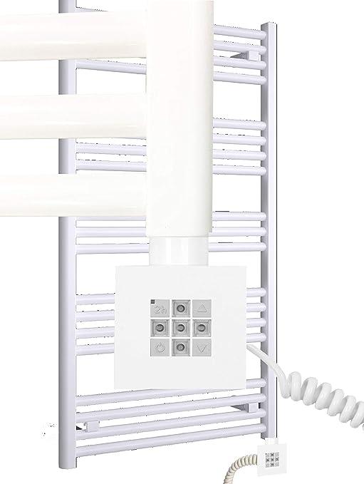 Toalleros eléctricos MORA 1503 x 600 mm. Blanco con calentador de toallas eléctrico puro KTX2