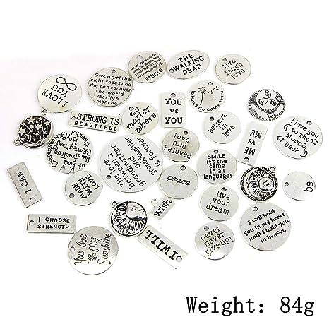 Pulseras B Baosity 31 Piezas Colgantes de Encantos de Aleaci/ón Excelentes Accesorios de Bricolaje para Collares Pendientes y Otros Accesorios de Moda