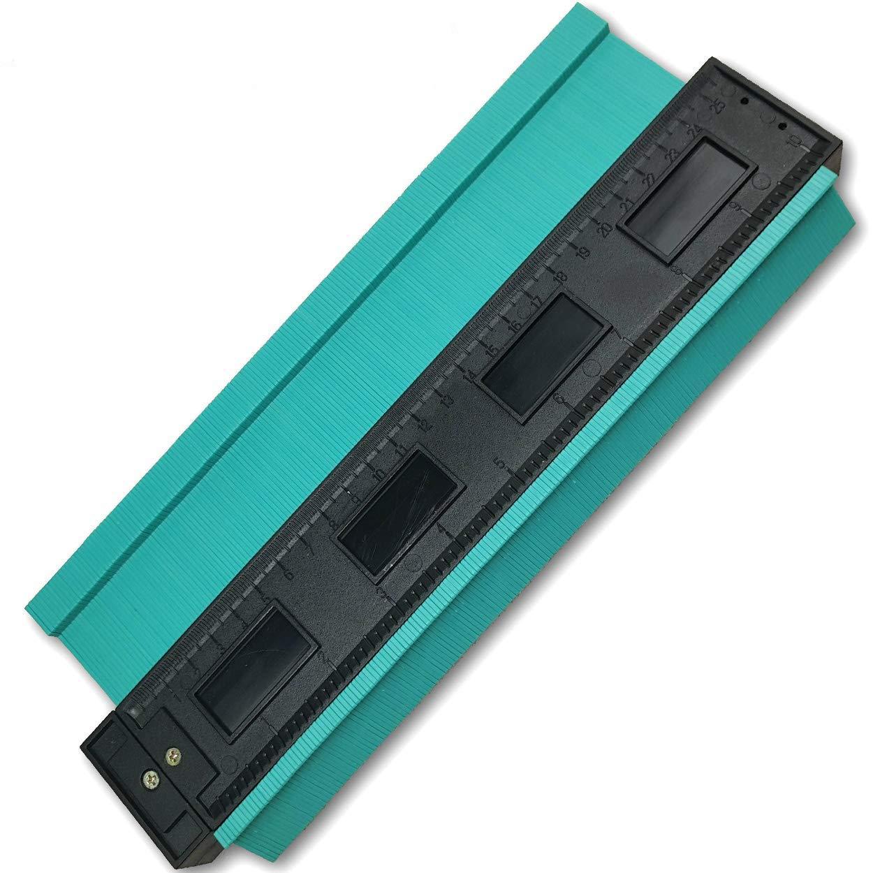 10 Inch Contour Gauge Irregular Profile Gauge Duplicator Tiling Laminate Tiles Edge Shaping Wood Measure Ruler Plastic Woodworking Tools Profile Jig Guide
