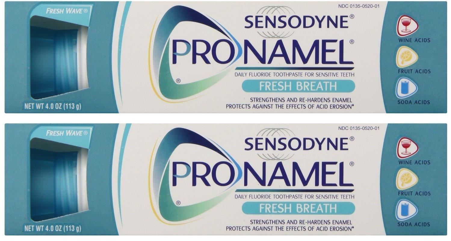 Sensodyne Pronamel Toothpaste, Fresh Breath, 4 Ounce (Pack of 2)