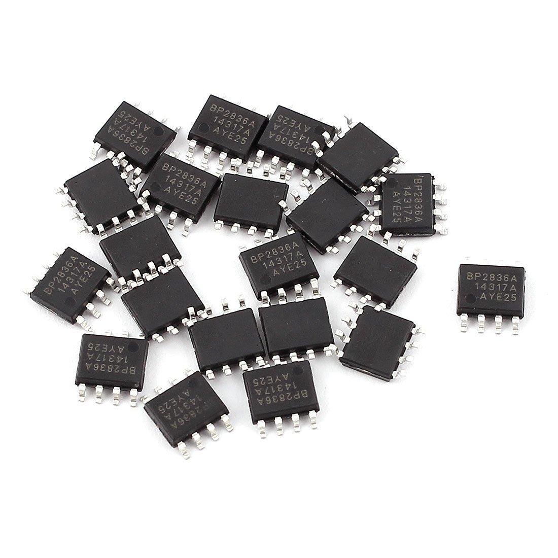 5 pieces SOP8 Mono OPamp to DIP8 Dual opamp PCB