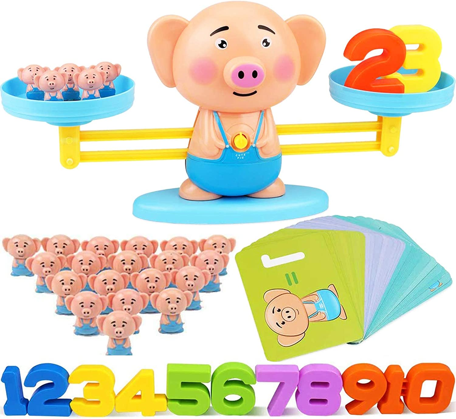 CozyBomB Educational Toys STEM Learning Activities Games - Math Manipulatives Counting Bears Toddler Homeschool Supplies Preschool Kindergarten Steam Toy for Kids ages 3 4 5 6 7 8 years old Boys Girls