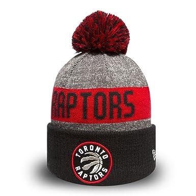 huge selection of ecb45 57f04 New Era Toronto Raptors Bobble Hat - NBA Team Colour Knit - Grey-Black  1-Size  Amazon.co.uk  Clothing