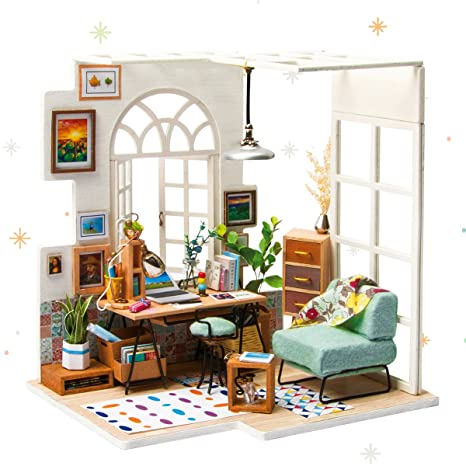 Amazon Com Robotime Miniature Dollhouse Kit Decorations With Lights