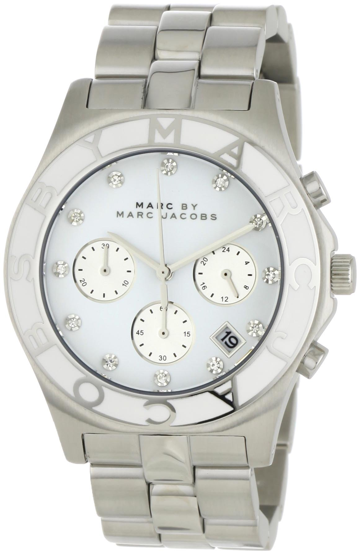 Marc by Marc Jacobs Women's MBM3080 Blade Classic Stainless Steel Chronograph Watch by Marc by Marc Jacobs
