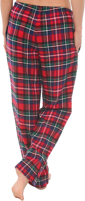 Long Cotton Pj Bottoms Alexander Del Rossa Womens Flannel Pajama Pants