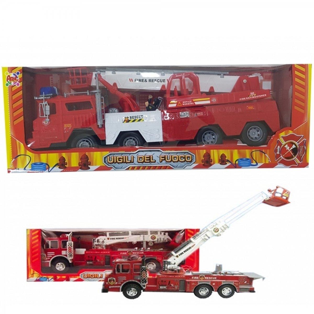 TrAdE shop Traesio- LKW Feuerwehr Feuerwehren Feuer 50 cm Lichterkette Maßstab Maßstab Lichterkette ausziehbar drehbar Spiel Kinder 3a34e4