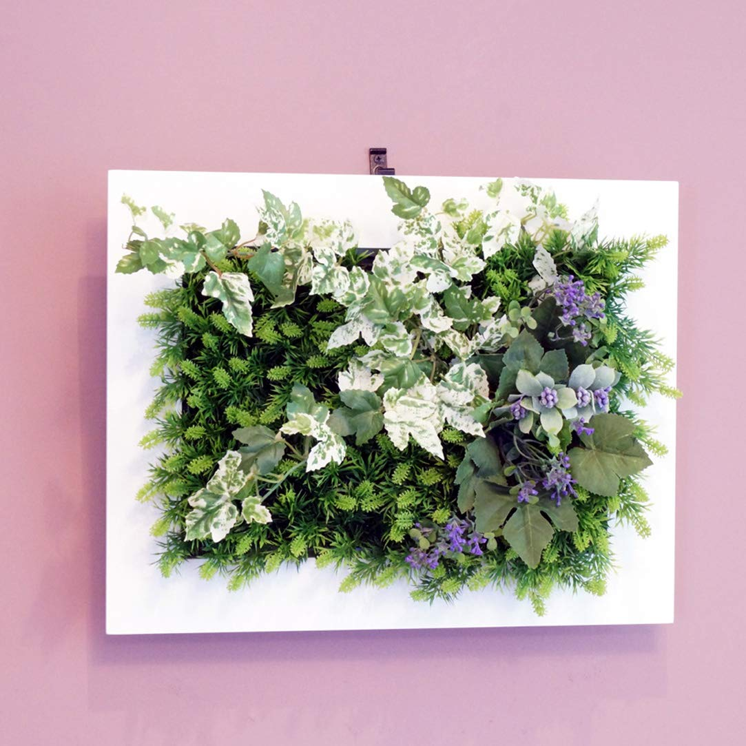 壁掛けグリーンフレームフレッシュアイビーホワイト(光触媒)造花観葉植物インテリアグリーン B01HNSJZ8Y