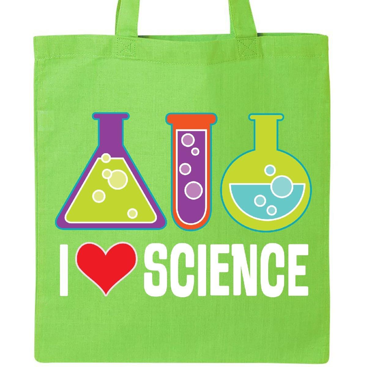 Inktastic - I Love Science Chemistry Teacher Tote Bag Lime Green 2e005