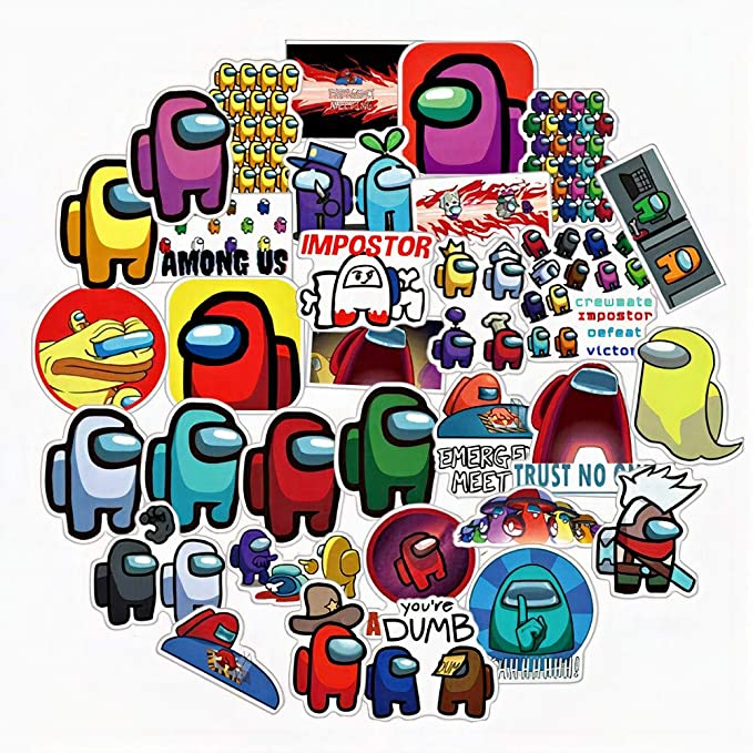 Amazon Com Your Store Among Us Hot Online Game Special Characters The Crew Imposter Crewmate Fandom Vinyl Stickers For Kids Teens To Decorate Laptop Skateboard Phone Case Water Bottle 50 Pcs Sticker Pack