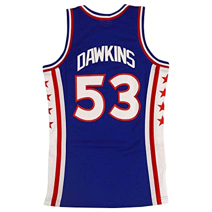 quality design 3e7f8 ff962 Mitchell & Ness Philadelphia 76ers Darryl Dawkins Throwback Swingman Jersey  Blue