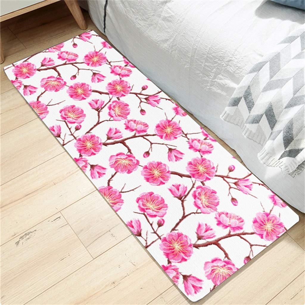 Washable Kitchen Floor Rug Non-Slip Runner Bath Mat Morden Fish Pattern Carpet Doormats