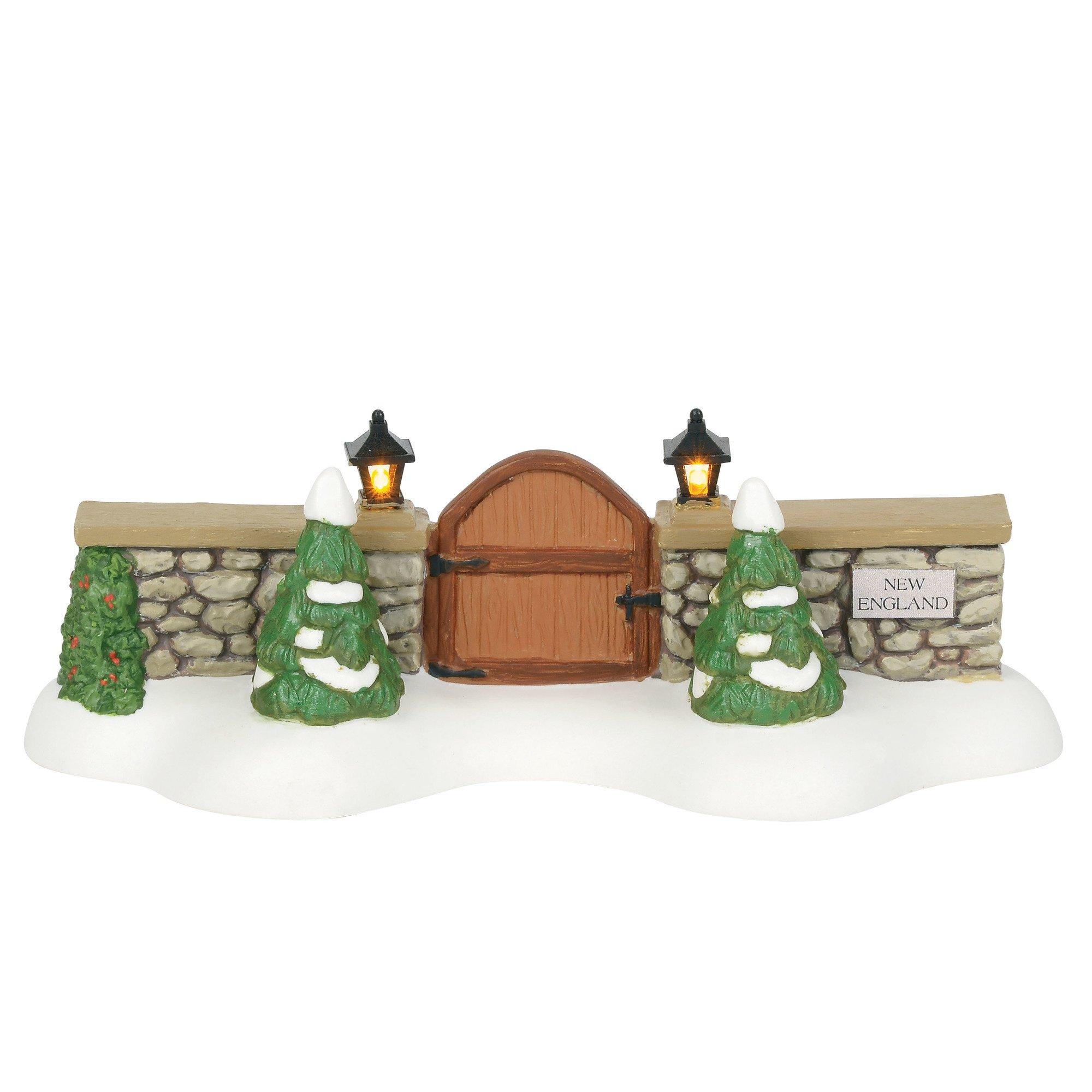 Department 56 New England Village Accessories Entry Gate Lit Figurine, 1.75'', Multicolor