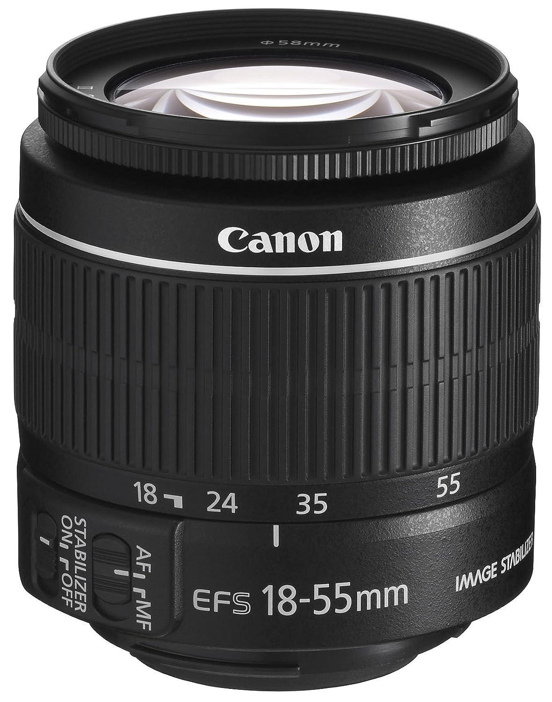 Canon EF-S 18-55 3.5-5.6 IS II - Objetivo para Canon (apertura f/3.5-5.6, zoom óptico 3x,estabilizador óptico), Negro 5121B005