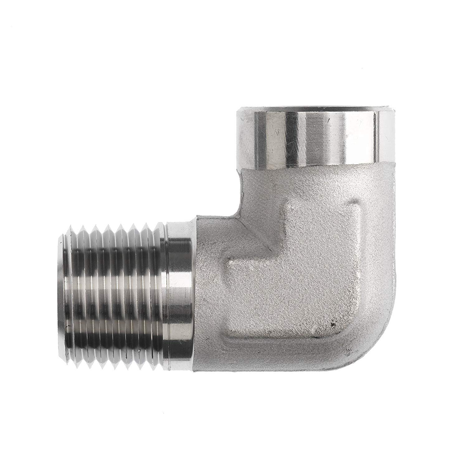 5502-12-08 Hydraulic Fitting 3//4 Male Pipe X 1//2 Female Pipe 90 Degree Carbon Steel