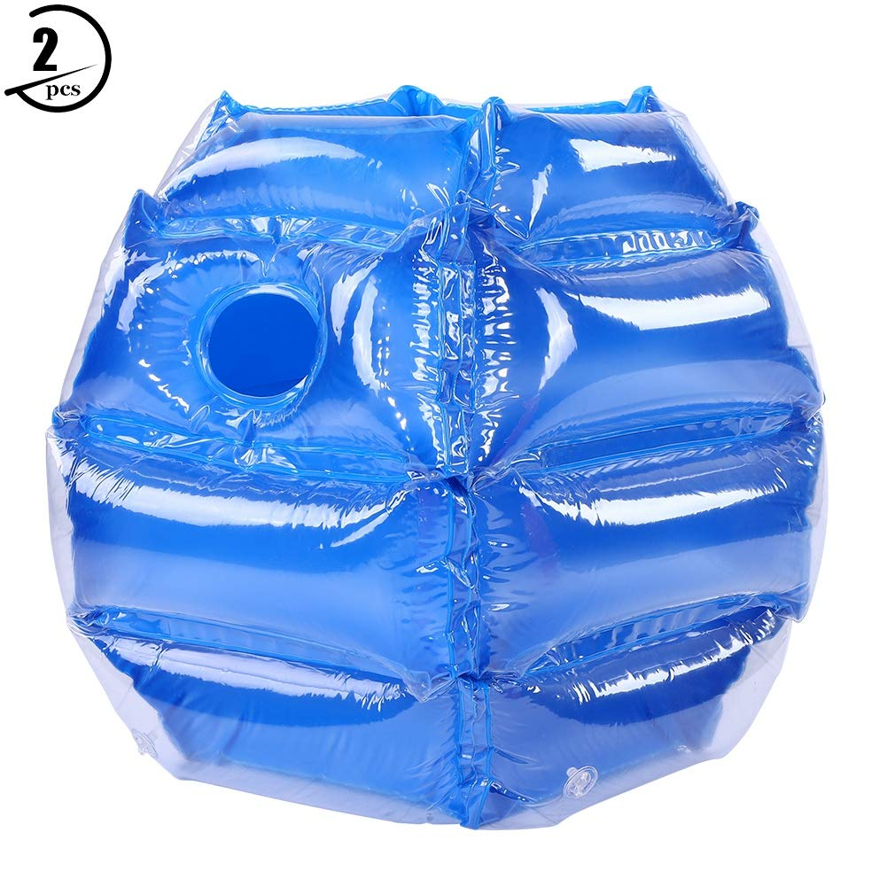 GOTOTOP Wearable Inflatable Bubble Ball, 2pcs 6060cm Wearable Inflatable Bubble Funny PVC Ball for Outdoor Play(Blue)