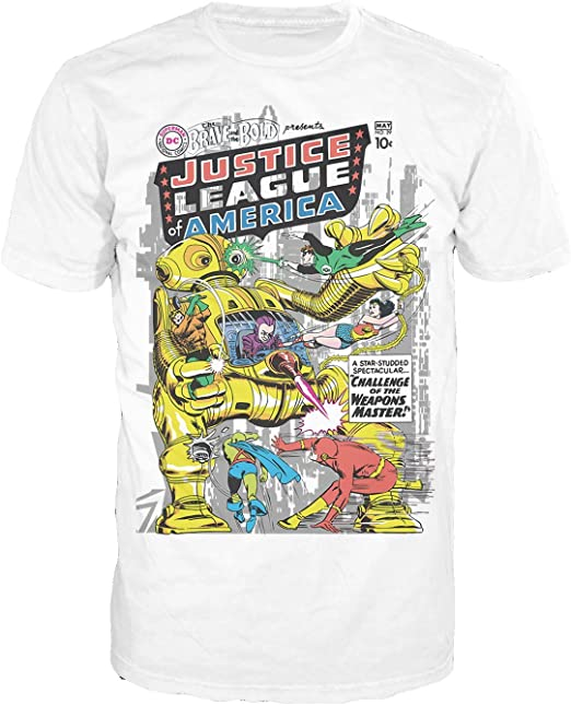 DC Comics Justic League Of America Lightning Team Adult 2-Side Print T-Shirt Tee