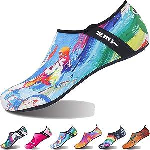 [FAYSHOW] マリンシューズ メンズ レディース 超軽量 ウォーターシューズ 水陸両用 速乾 アクアシューズ 子供 ビーチサンダル 通気性 スイムシューズ シュノーケリング サーフィン ダイビング 水泳 ヨガ 男女兼用