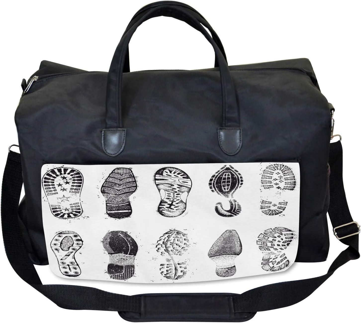 Ambesonne Grunge Gym Bag Damaged Murky Artisan Large Weekender Carry-on