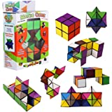 Pawaca Infinity Cube Toy 3D Assembly Geometric Puzzle Cube Toy Magic Puzzle Toy Unlimited Fold Cube Triangular Inside Stress Anxiety Relief Toy Novelty Gift