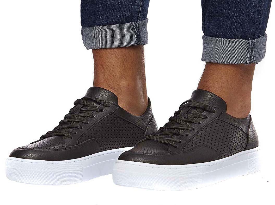 LEIF NELSON Hombres Zapatos Zapatos Casuales Elegantes del Verano del Invierno Zapatos del Ocio de los Hombres 41|Negro