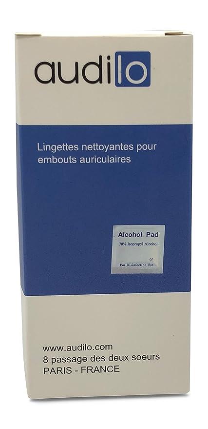 Toallitas Limpieza Audilo para Audífonos / Lote de 100 Toallitas Desinfectantes y Antibacterianas