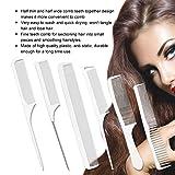 Anself 6 Pcs Salon Hair Comb Plastic Hair Cutting