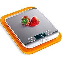 Supkitdin Básculas de Cocina Digitales, básculas de Cocina de Acero Inoxidable de Primera Calidad, Pantalla LCD, Viene…