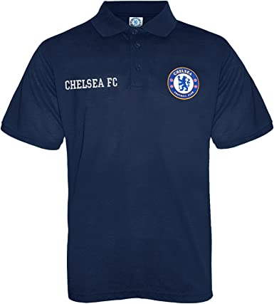 Chelsea FC Official Kids Football Polo Shirt New Blue
