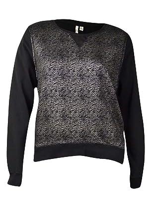85c92c6e2f Image Unavailable. Image not available for. Color  Calvin Klein Women s  Metallic Slub Knit Sweater (XL ...