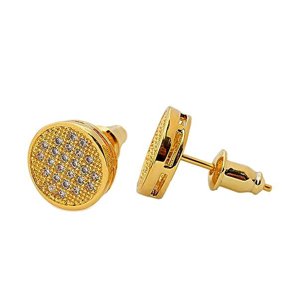 Pendientes de oro acero inoxidable acero quirrgico 18Khttps://amzn.to/2Mhq5em