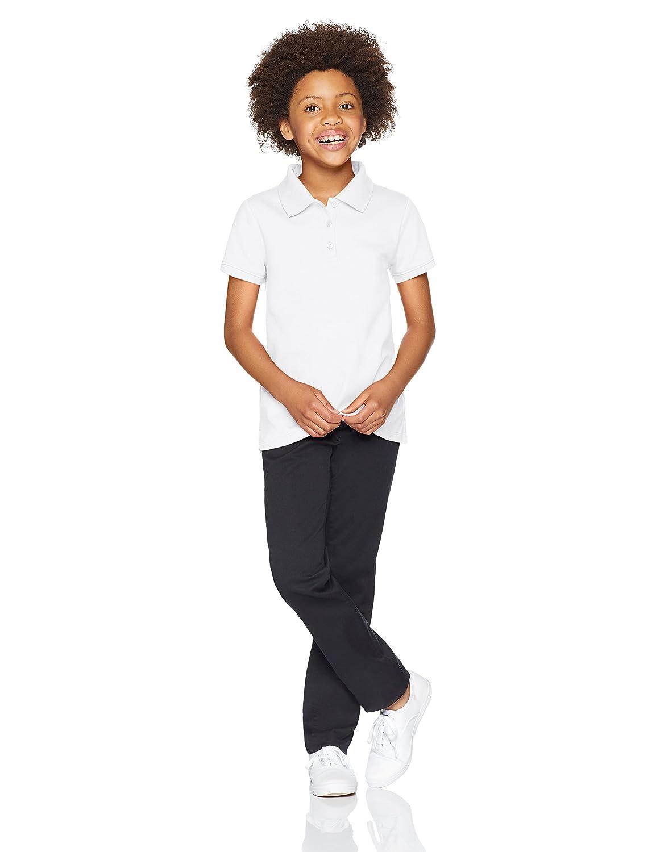 Essentials Girls Short-Sleeve Uniform Interlock Polo