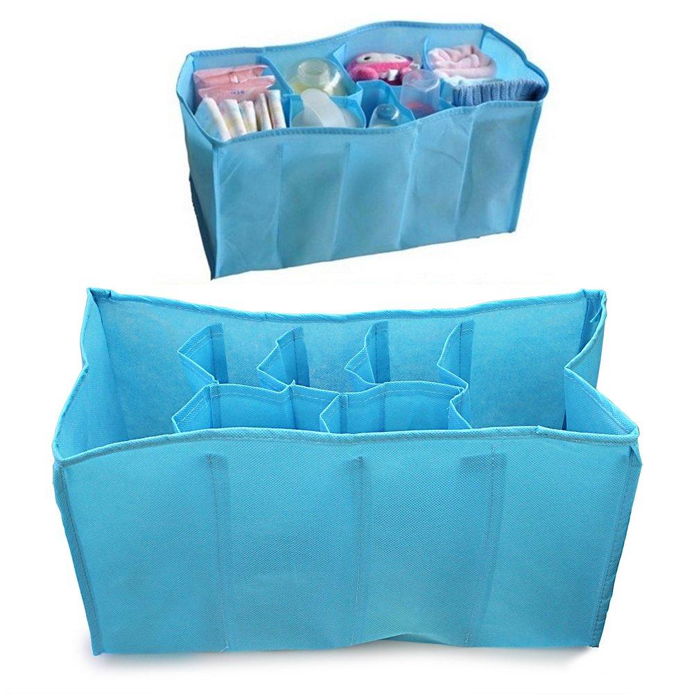 Rangement Sac Stockage Organisateur pr Culotte Bouteille Couches B/éb/é Bleu Tissu