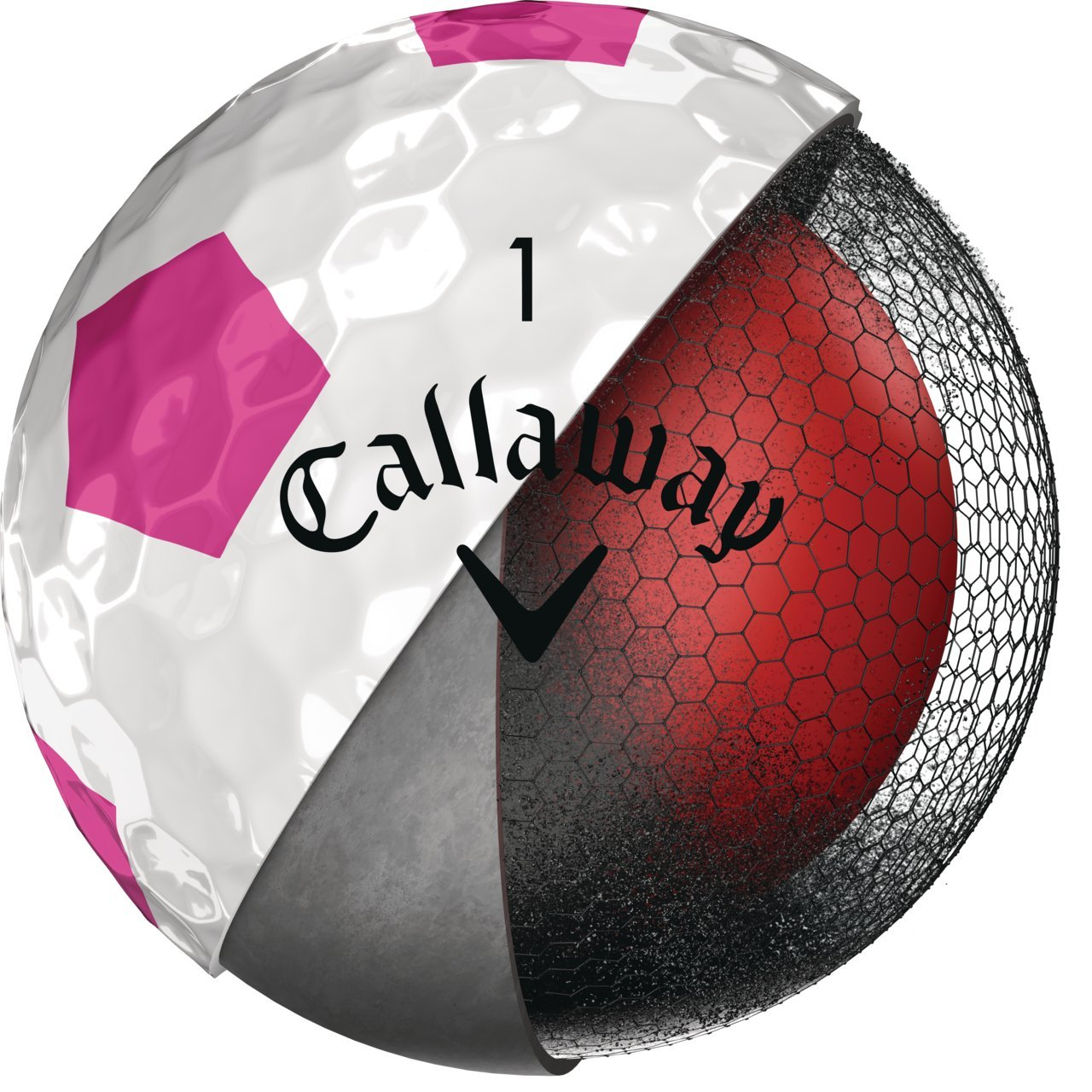 Callaway 2018 Chrome Soft Golf Balls, Truvis Pink by Callaway (Image #2)