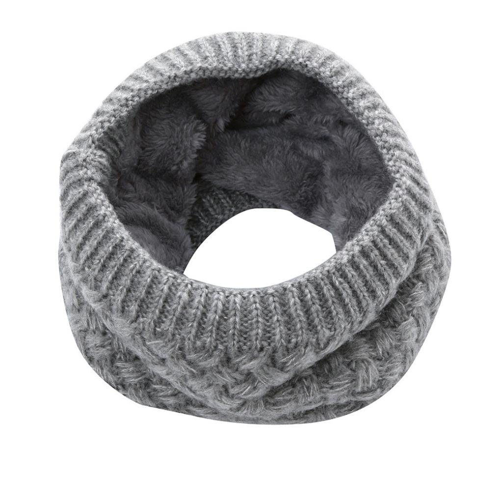 Bufanda Caliente de Invierno Cuello de Punto Bufanda-Unisex Bufanda Espesor