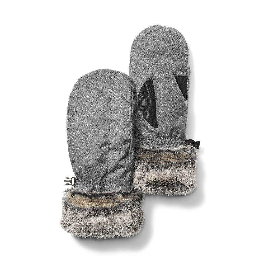 Eddie Bauer Women's Superior Down Mittens, Dk Charcoal Htr Regular M