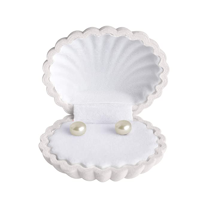 Pearl Earrings Sterling Silver - PROMO CODE WORKS FOR ALL COLOR AND SIZE VARIATIONS