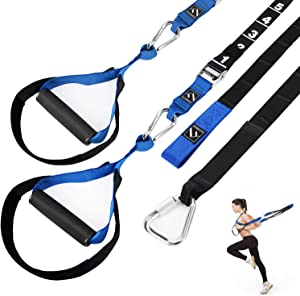 FITINDEX Resistance Trainer Kit 15Kit, Bodyweight Resistance Training Straps, Fitness Training Straps for Full Body Workout Indoor or Outdoor Gym