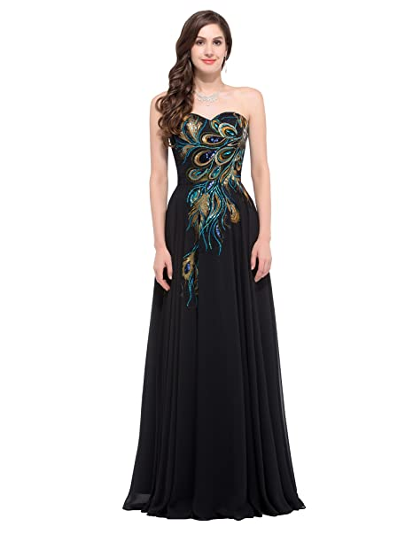 c17bb56934e2 Women Eevening Gown Formal Dress Strapless Chiffon A-Line Long Ball Prom  Dress  Amazon.co.uk  Clothing