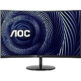 "AOC CU32V3 32"" Super-Curved 4K UHD Monitor, 1500R Curved VA, 4ms, 121% sRGB Coverage / 90% DCI-P3, HDMI 2.0/DisplayPort…"