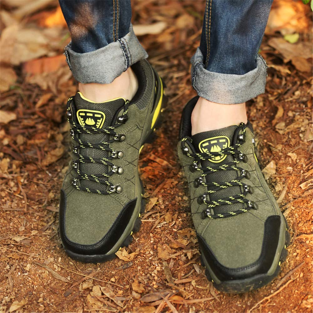 7.5 B(M) US, Army Green Mens Hiking Boots and Wear-Resistant Backpacking Sneaker